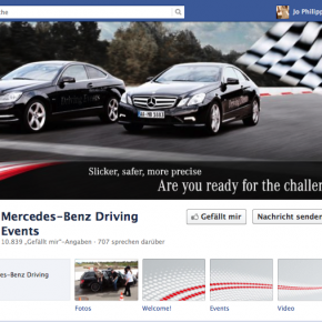 10.000 FANS IN 6 MONATEN – FB MERCEDES-BENZ DRIVING EVENTS