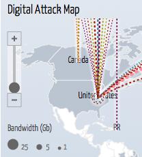 DDoS attack map – Grafisch schön! Demokratie erschütternd!