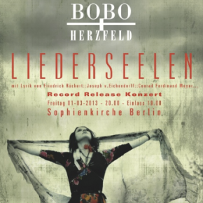 GESUNGENE ROMANTIK IN DER SOPHIENKIRCHE // FREITAG 01. MÄRZ // RECORD RELEASE  KONZERT LIEDERSEELEN BOBO + HERZEFELD
